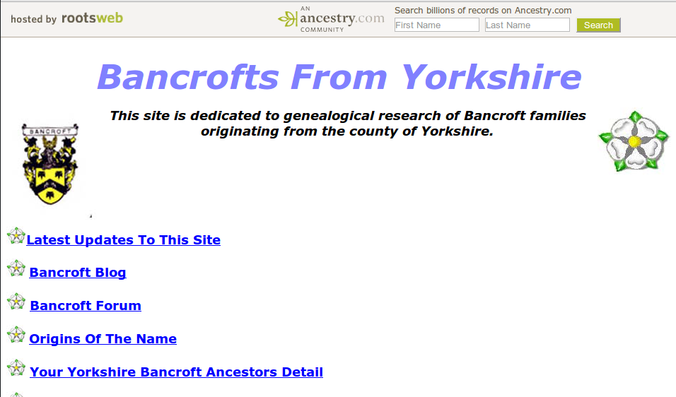 Bancrofts From Yorkshire